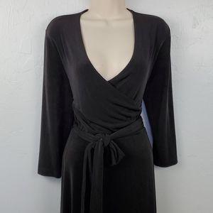 Chico's travelers black 3/4 sleeve dress size 1